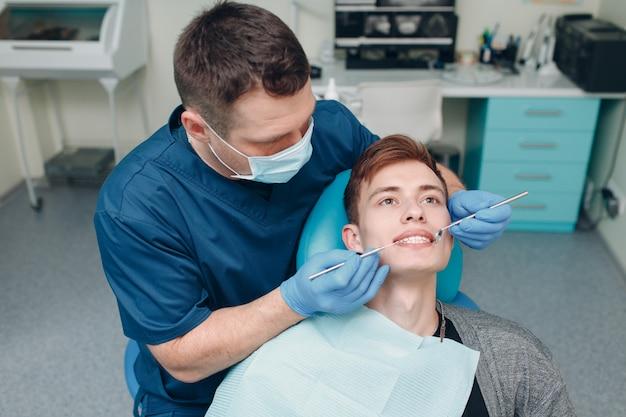 Стоматология. стоматолог и пациент. стоматологическая клиника.