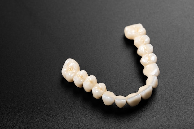 Denture on black