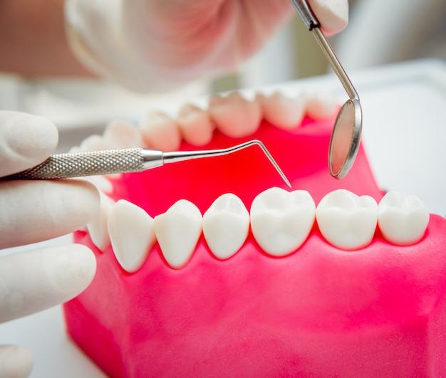 Dentures and medical equipment.