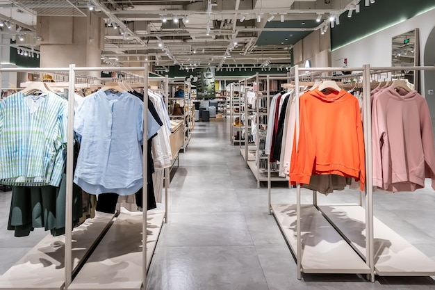 Department store leisure clothing store