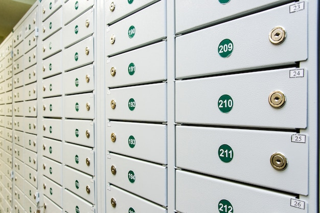 Deposit boxes for valuables