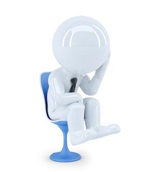 Depressed businessman. isolated