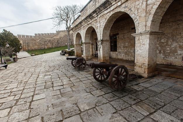The derbent fortress. ancient city of derbent. historical sights of the caucasus. republic of dagestan