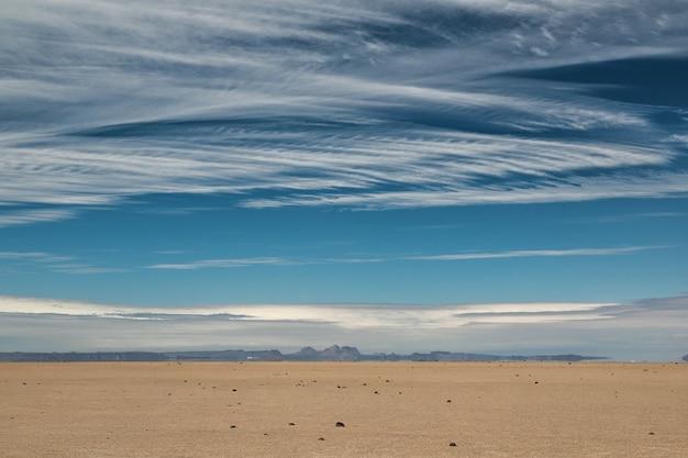Desert coast of san ignacio lagoon, baja california, mexico