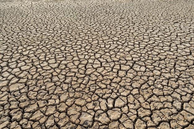 Desert heat dirt clay global warming texture pattern, angle view