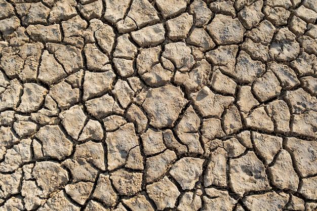 砂漠の熱土粘土地球温暖化テクスチャパターントップビュー