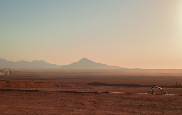 Desert and mountains in egypt