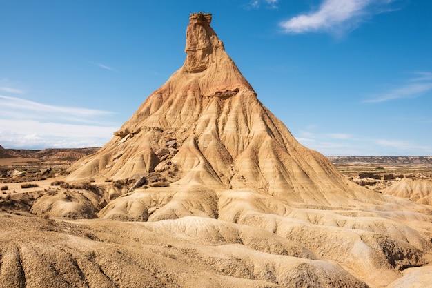 Desertic landscape in bardenas reales of navarra, spain.
