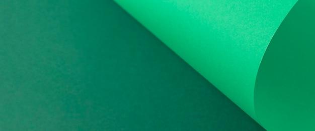 녹색 골 판지에서 디자인 배경 곡선 배경입니다. 평면도, 평면도. 배너.