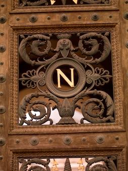 Design on doors in paris france