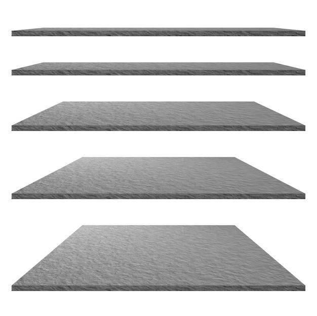 デザイン要素-石のテクスチャと背景。岩の質感。セメントテクスチャの概念。床、製品展示用の棚、コマーシャル広告。クリッピングパス。
