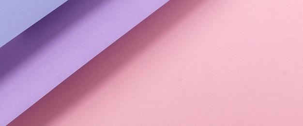 접힌 종이 핑크 라일락 소재 배경에서 디자인. 평면도, 평면도. 배너.