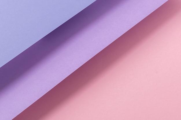 접힌 종이 핑크 라일락 소재 배경에서 디자인. 평면도, 평면도.