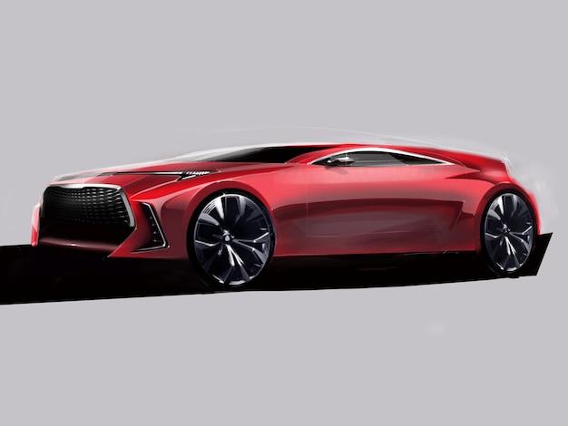 Design illustration of a modern car