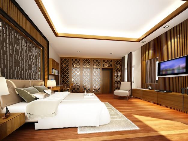 Design of interior living room,3d rendering