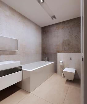 Design of modern bathroom interior