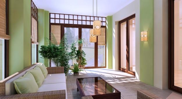 Design of modern summer terrace