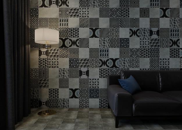 Design scene with sofa