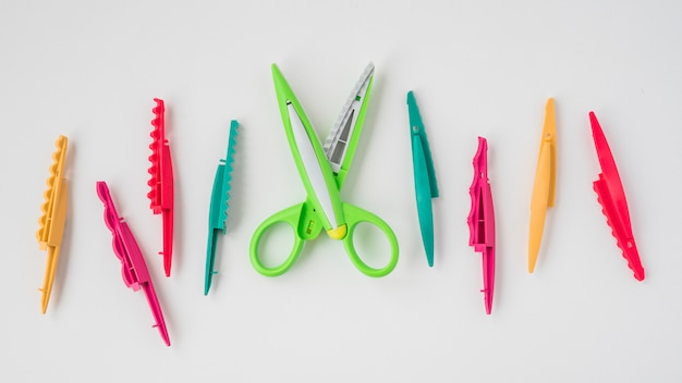 Design scissor with colorful changeable blades