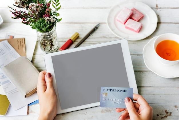 Design space mockup digital tablet