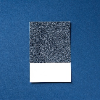 Design space on blue glittered paper