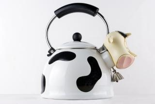 Designer cow tea kettle