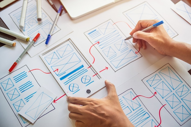 Designer development ux graphic prototype application