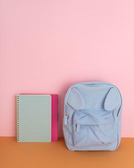 Desk arrangement with notebook