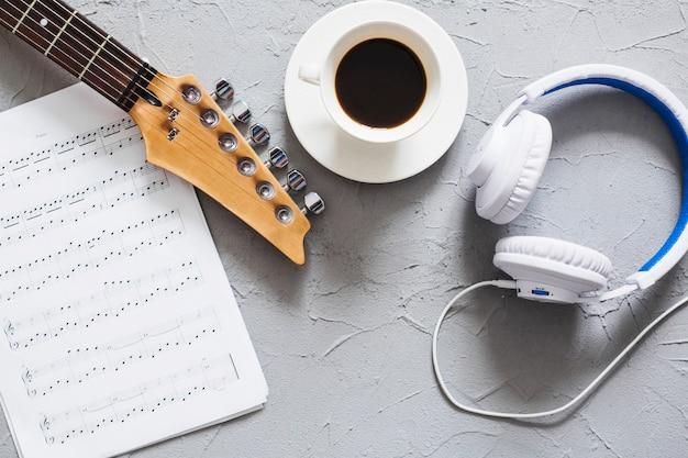 Desk of musician