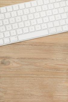 Desktop with keyboard