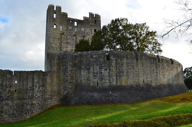 아일랜드의 데스몬드 성 및 주변 돌담.