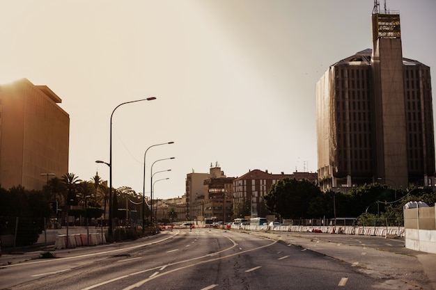 Desolated cityscape with nobody