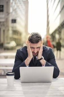 Desperate sad businessman