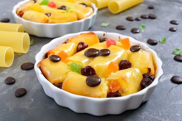 Десерт канеллони