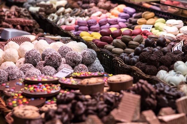 Dessert shop in a market