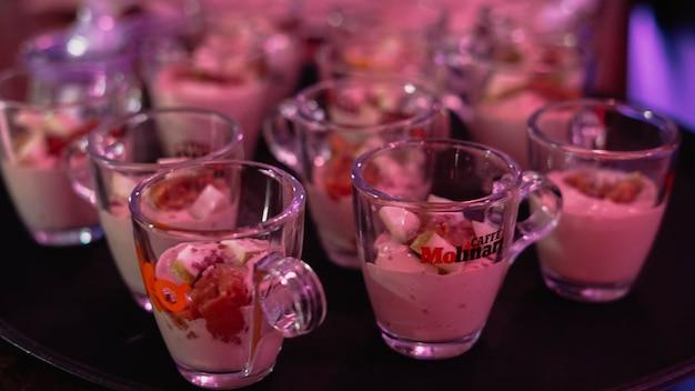 Dessert table for wedding banquet