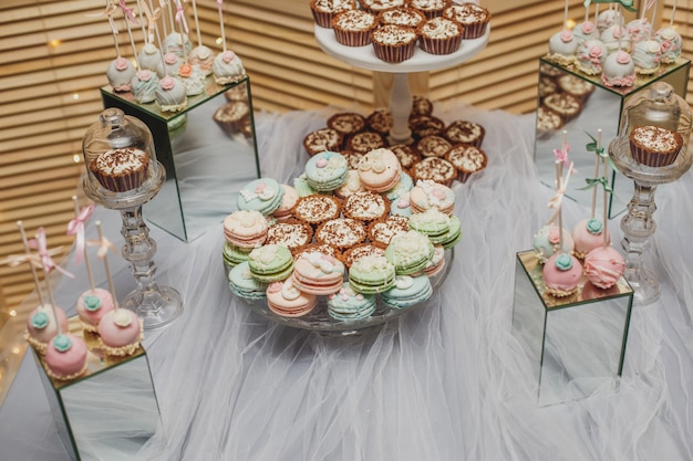 Dessert table with macarons