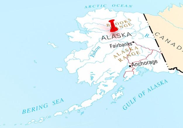 Пункт назначения штат аляска 3d-рендеринг