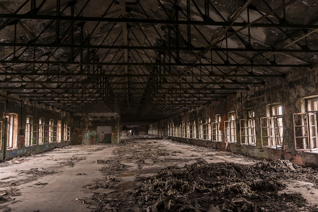 Destroyed a large production shop in the old factory.