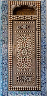 Detail of antique mosaic or decoration in turkish or ottoman style