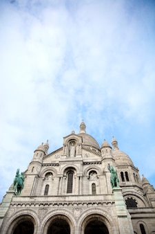 Detail of the basilica of the sacred heart of paris