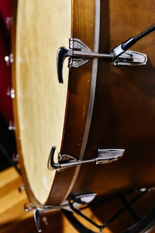Detail of a bass drum.