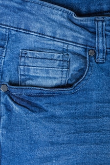 Detail of  blue jeans
