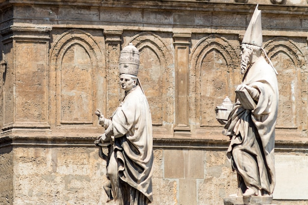 Detail of cathedral of palermo, sicily
