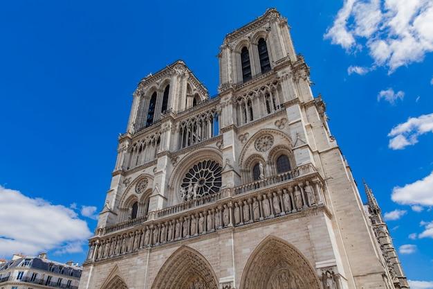 Detail of the cathedrale notre dame de paris, france