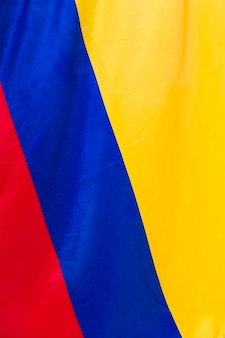 Detail of the colombian flag