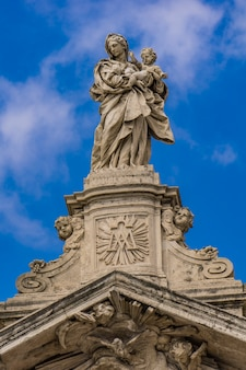 Detail from church santa maria maggiore in rome, italy