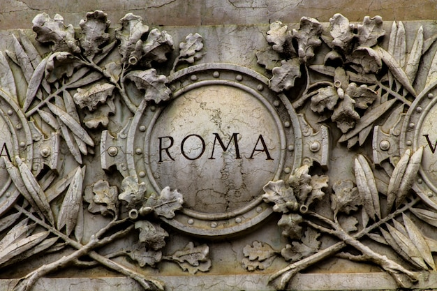 Detail from giuseppe garibaldi monument in milan, italy