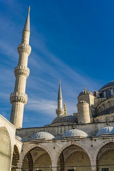 Detail from suleymaniye mosque courtyard in istanbul, turkey