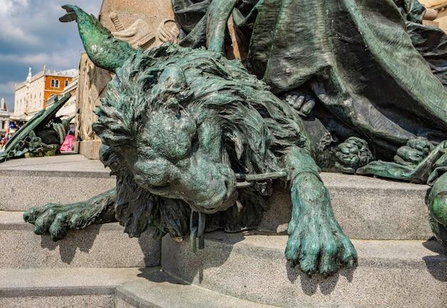 베니스, 이탈리아에서 victor emmanuel ii 기념비에서 세부 사항.